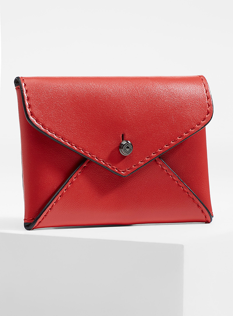 Smooth leather envelope card holder - Wallets - Red