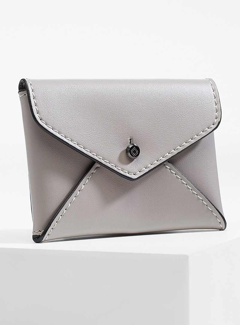 Smooth leather envelope card holder - Wallets - Silver