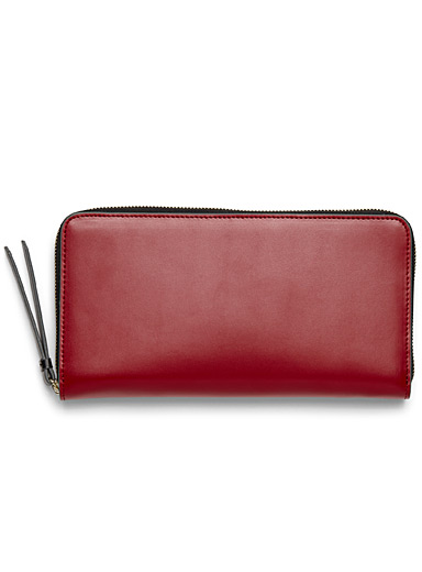 Contrast zip wallet