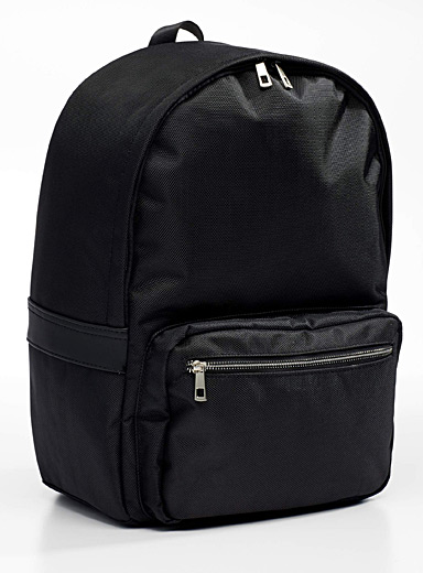 Textured nylon backpack