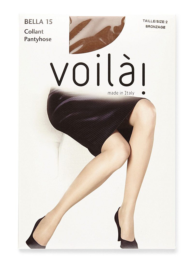 9 to 5 sandalfoot pantyhose - Invisible Toe - Bronzage