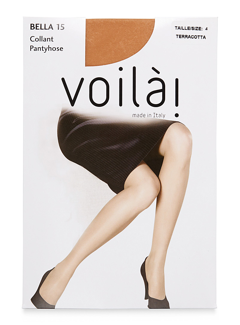 9 to 5 sandalfoot pantyhose - Invisible Toe - Terracotta