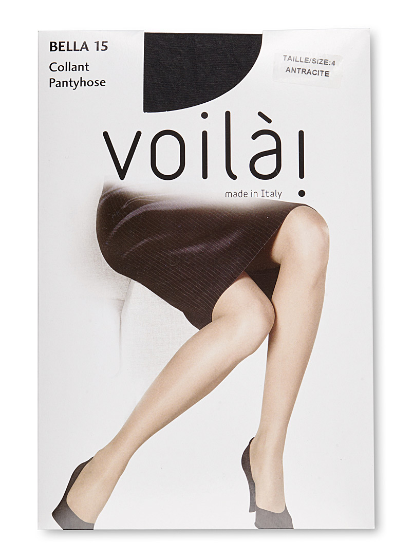 9 to 5 sandalfoot pantyhose - Invisible Toe - Anthracite