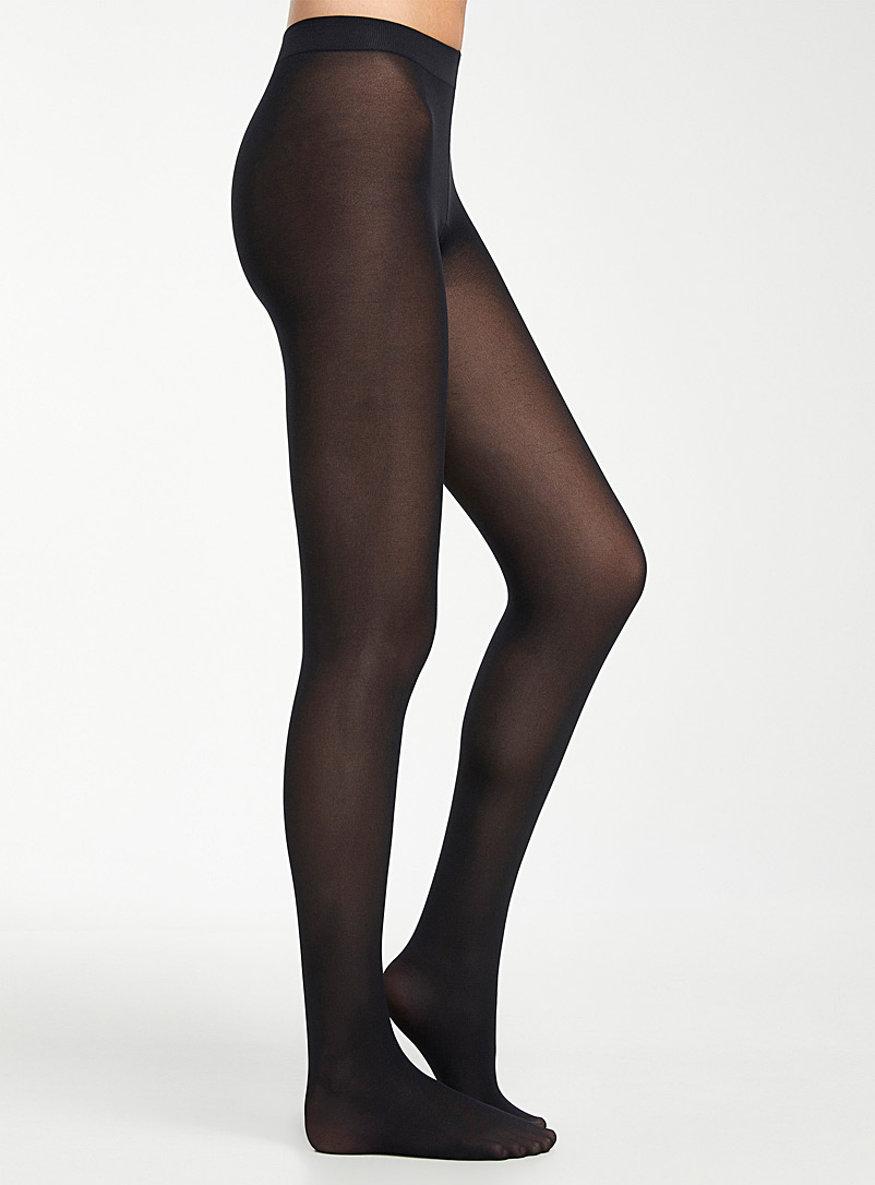 Filodoro Black Opaque Clio tights for women