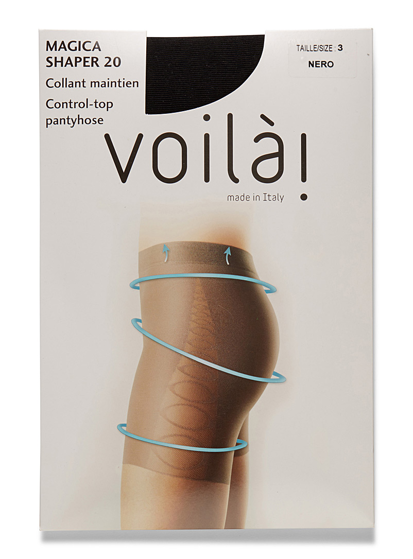 Control-top pantyhose - Control Top - Black