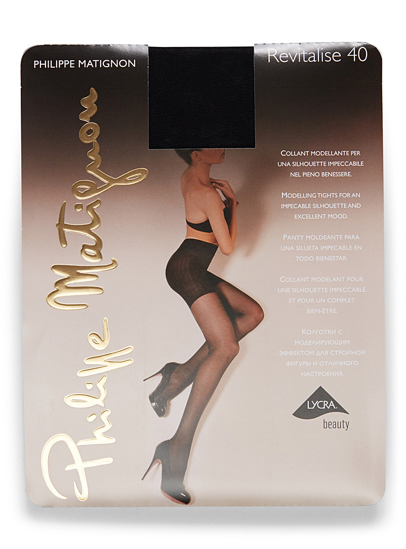 Matte semi-opaque pantyhose - Regular Nylons - Black