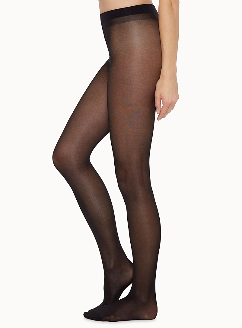 Diana glossy pantyhose - Invisible Toe - Black