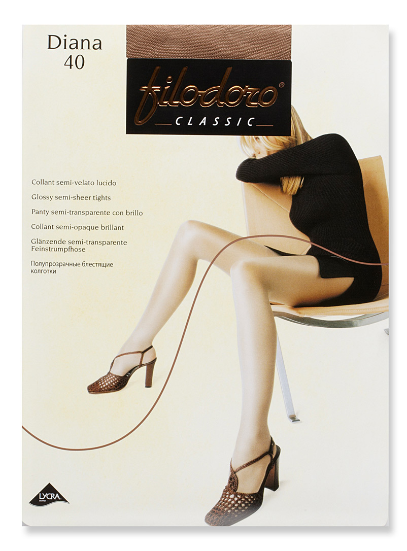 Diana glossy pantyhose - Invisible Toe - Playa