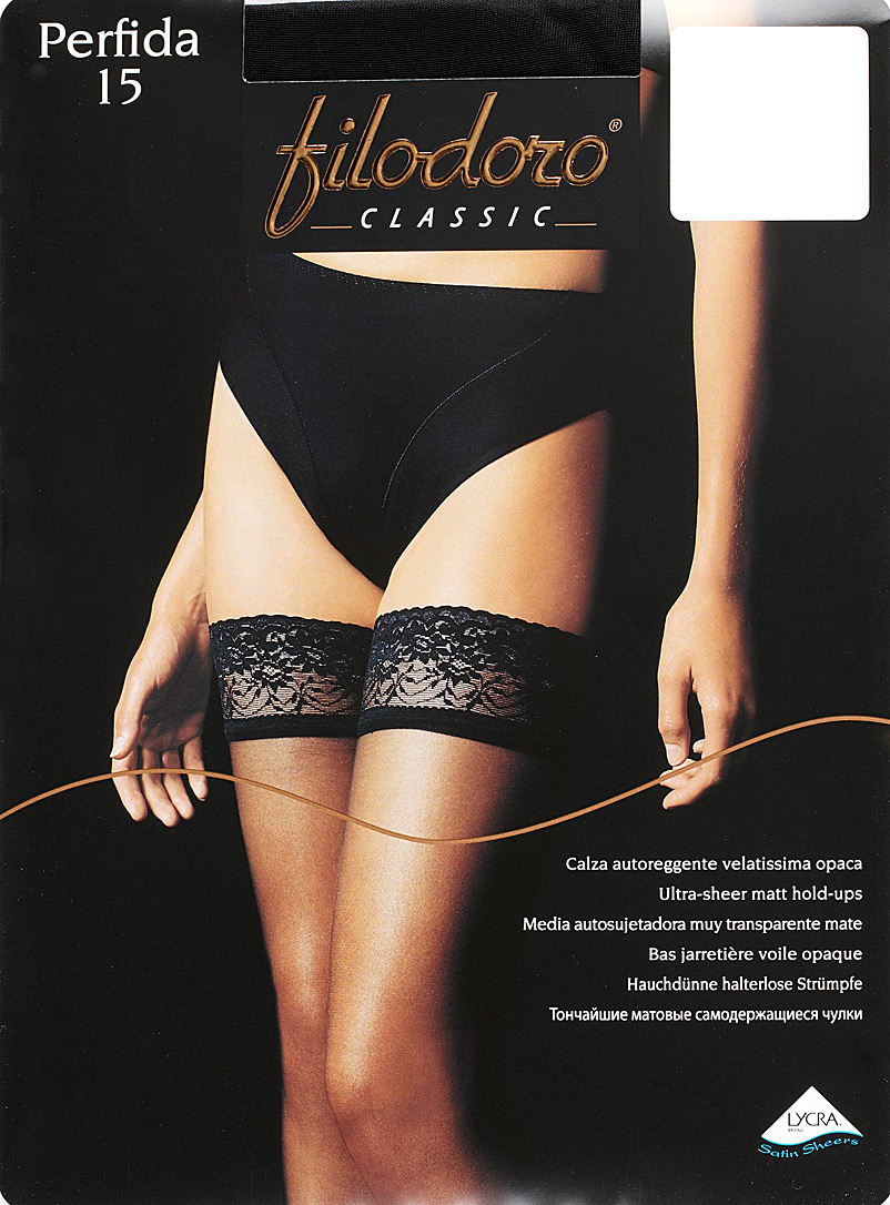 Perfida opaque voile thigh-highs - Stay-Ups - Nero
