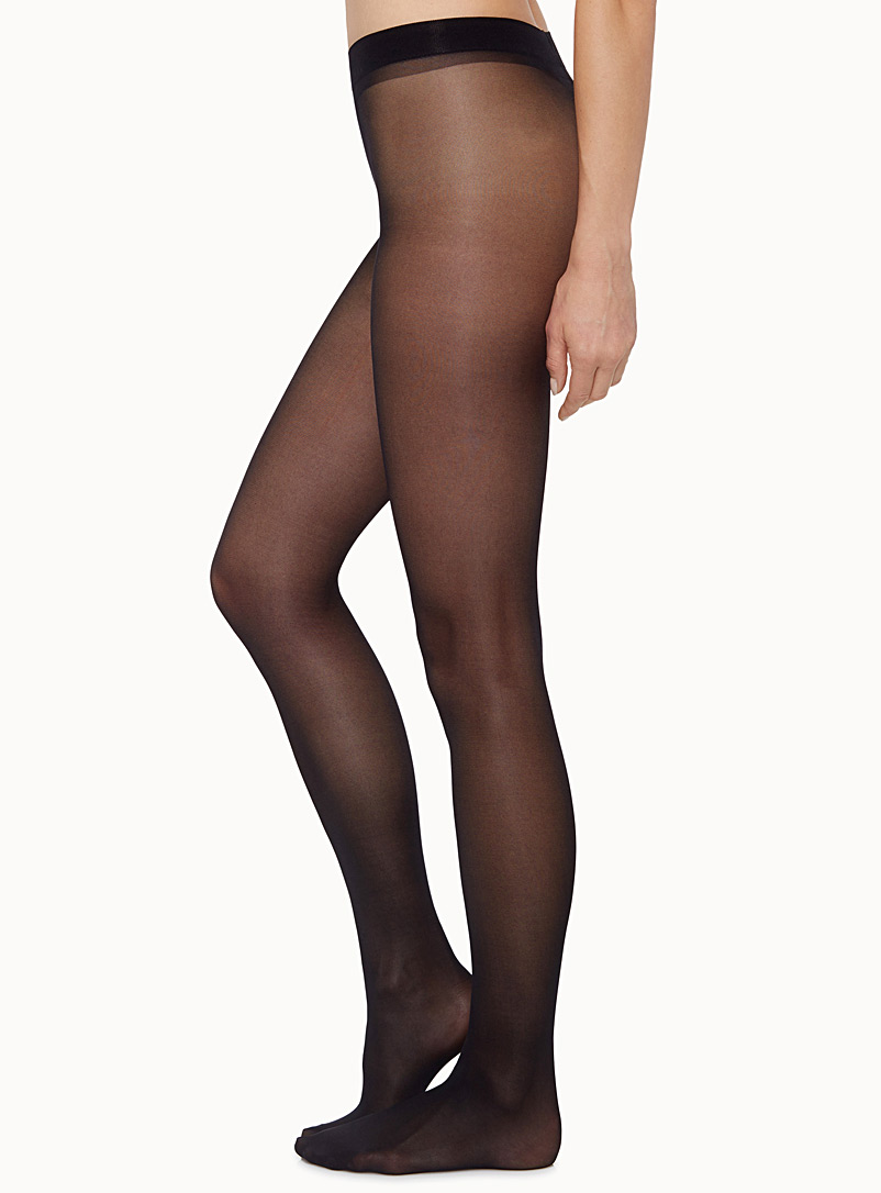 Ninfa semi-opaque pantyhose - Invisible Toe - Black