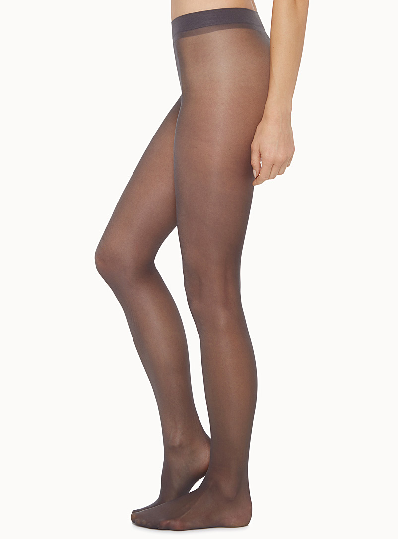 Ninfa semi-opaque pantyhose - Invisible Toe - Platino