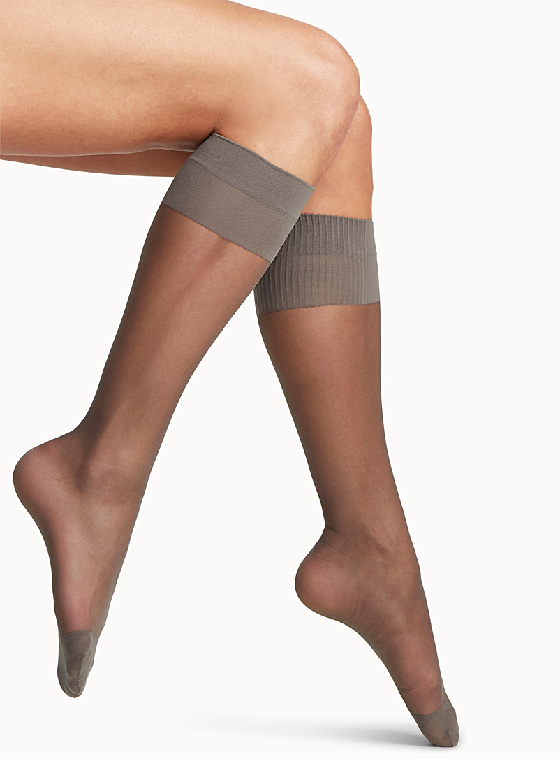 Comfort-band knee-highs - Knee-Highs - Platino