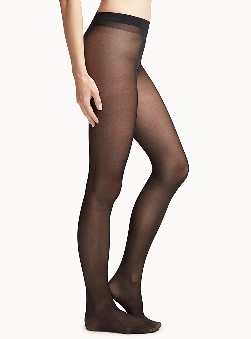 Glossy semi opaque pantyhose - Regular Nylons - Black