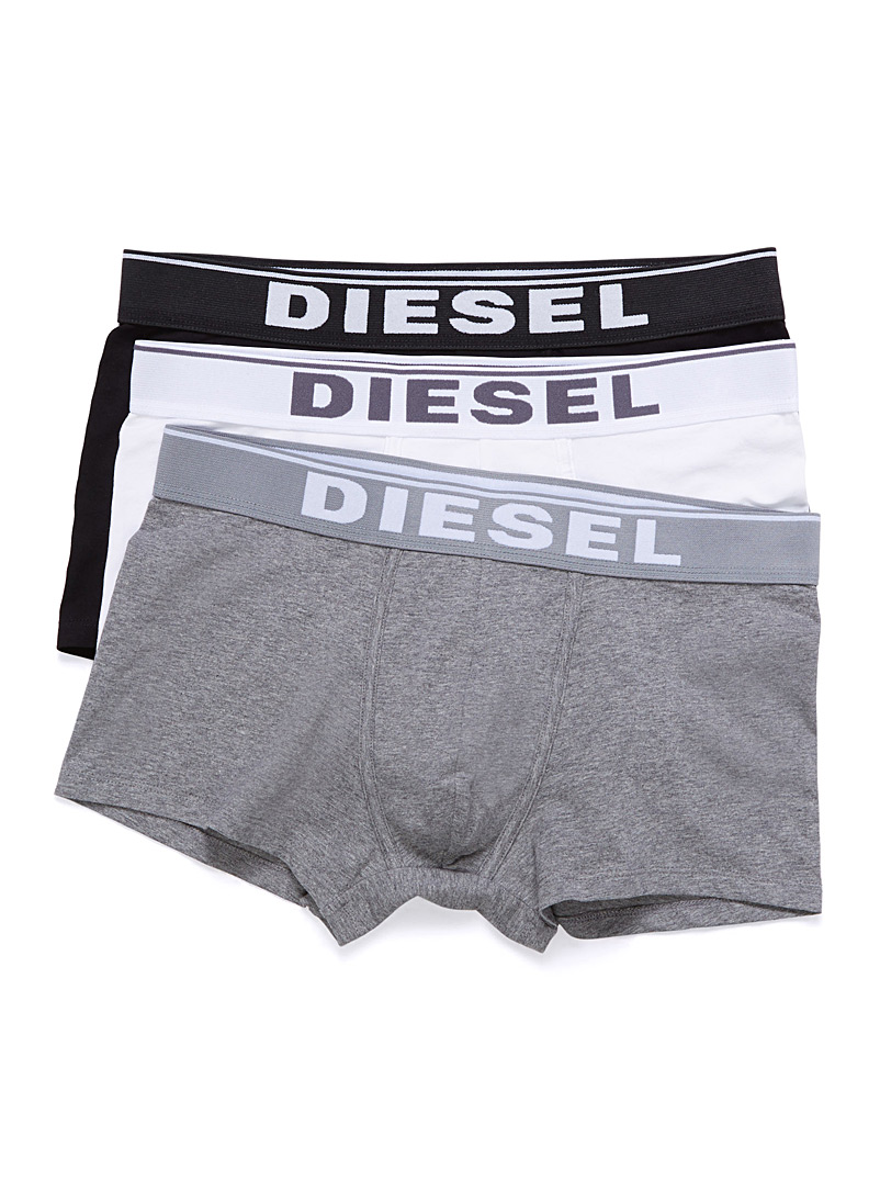 Diesel Charcoal Essential colour trunk  3-pack for men