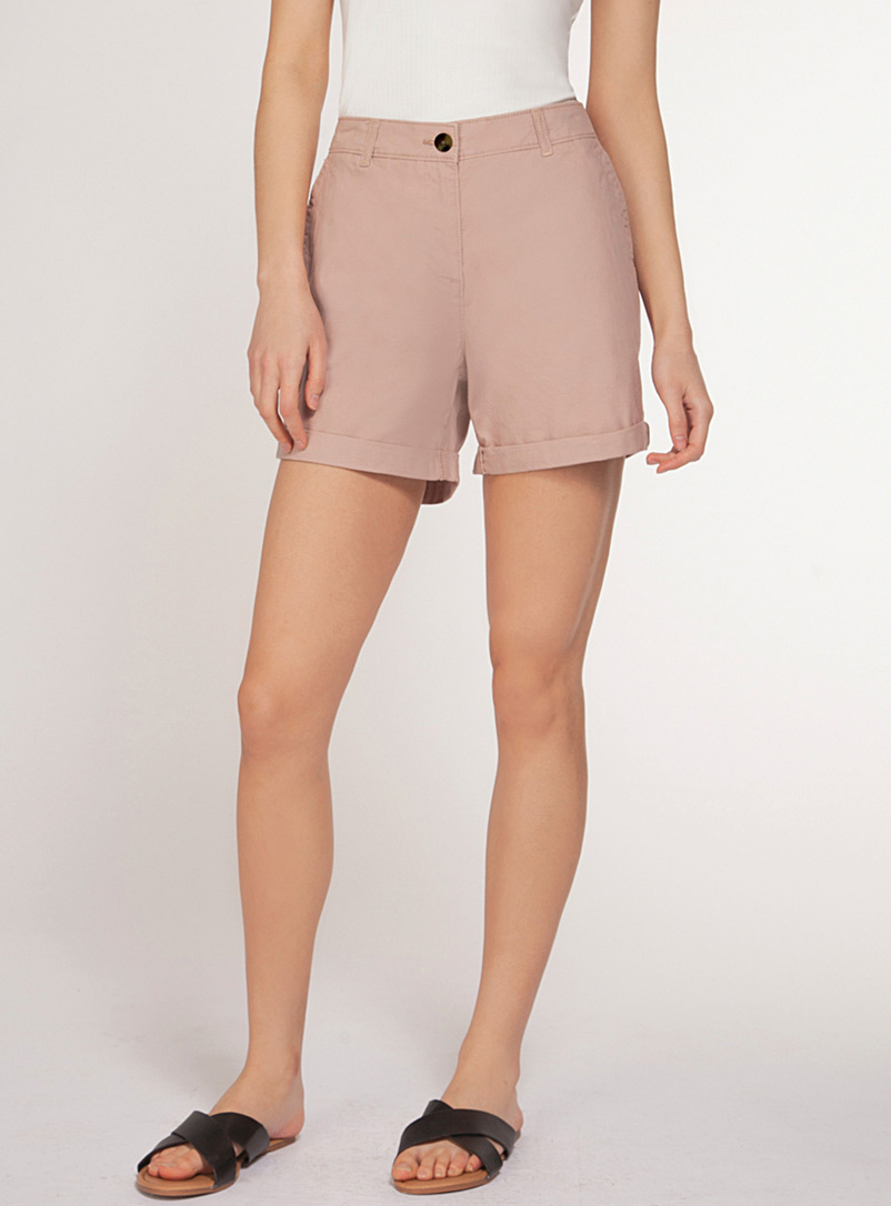 Dex Dusky Pink Minimalist stretch cotton short for women