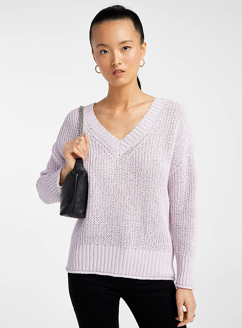 Icône Lilacs Oversized lilac sweater for women