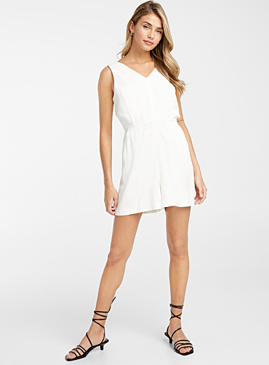 Vanilla cross-back romper