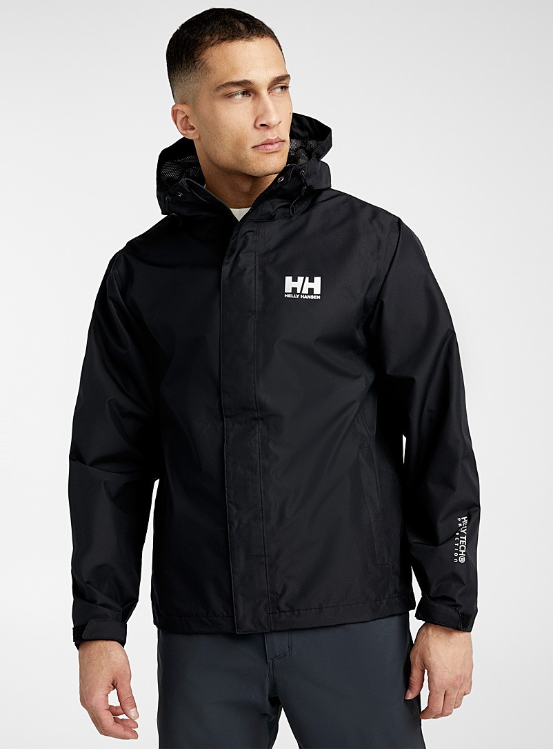 Helly Hansen Black Seven J rain jacket  Regular fit for men