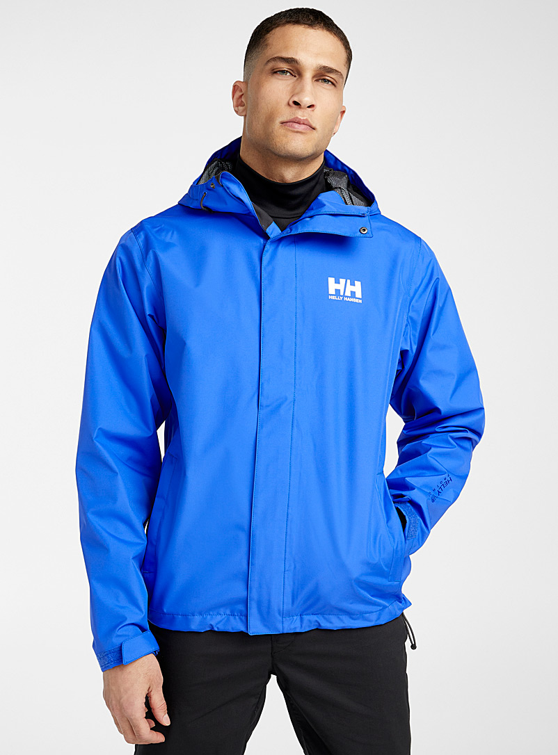 Helly Hansen Sapphire Blue Seven J rain jacket  Regular fit for men