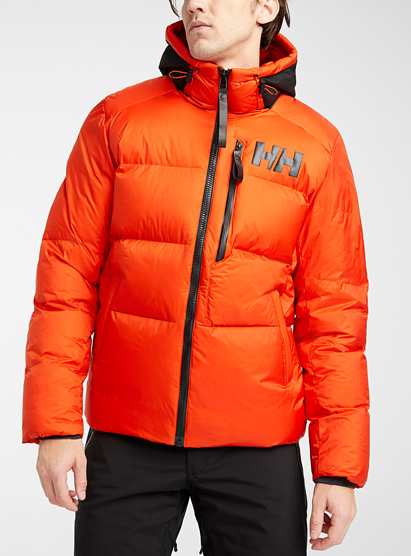 Helly Hansen Orange Active Winter quilted coat  Regular fit for men