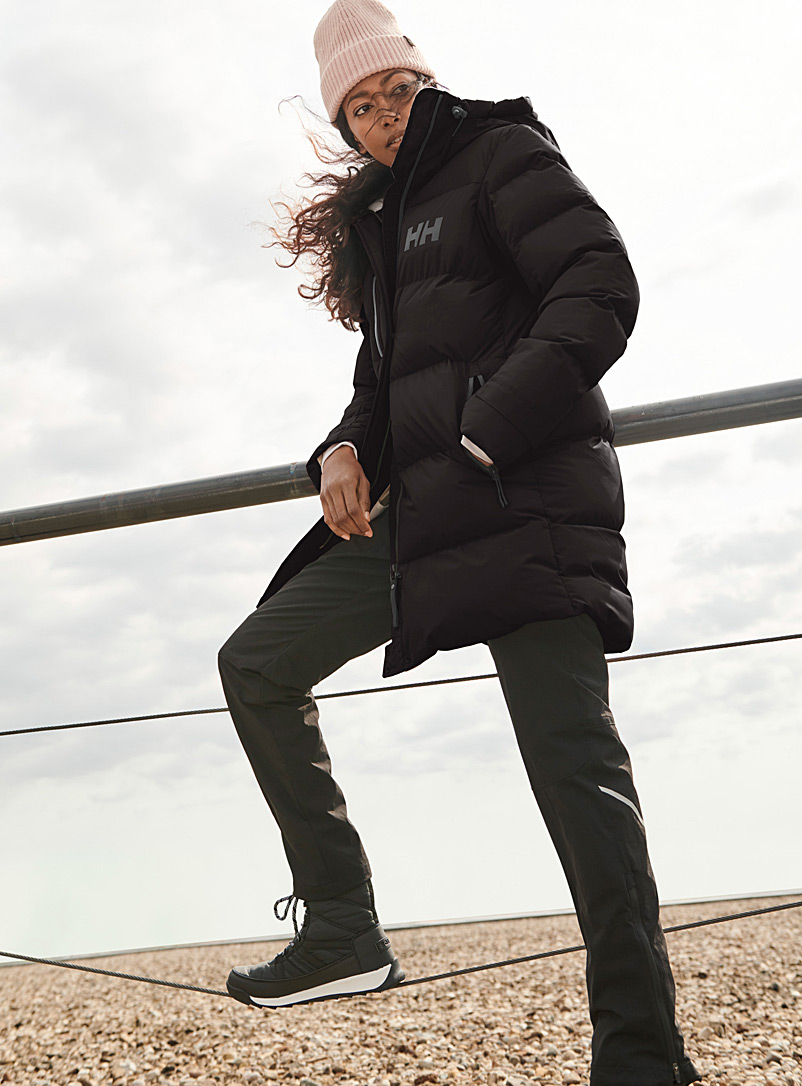 Helly Hansen Black Adore quilted parka  Long fit for women
