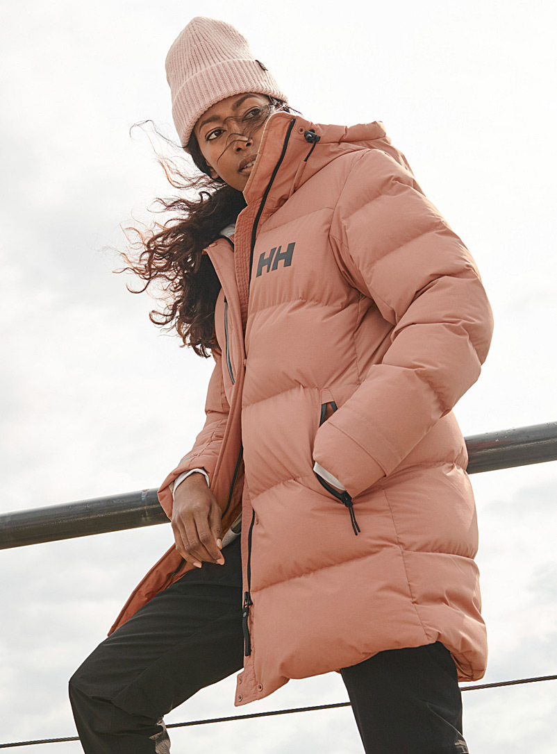 Helly Hansen Pink Adore quilted parka  Long fit for women