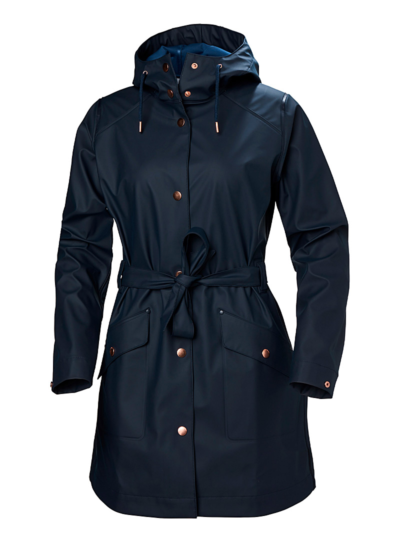 Helly Hansen Marine Blue Kirkwall II waterproof trench coat for women