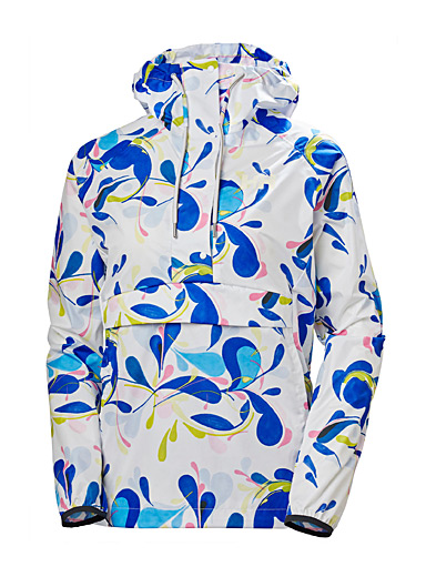Helly Hansen Patterned White Loke packable anorak for women