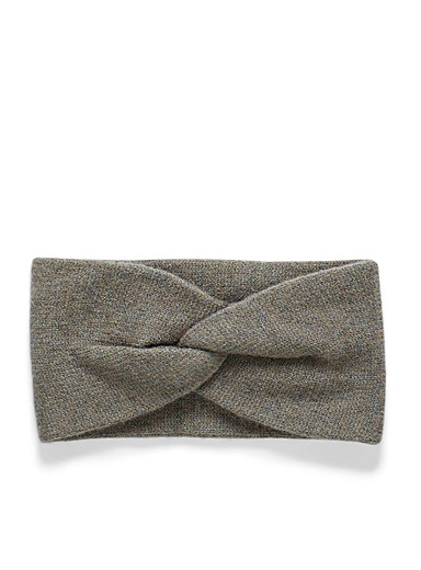 Simons Mossy Green Minimalist knot headband for women