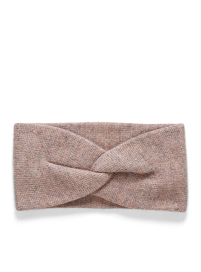 Simons Dusky Pink Minimalist knot headband for women