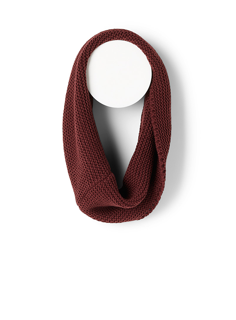 Simons Ruby Red Thick-knit infinity scarf for women