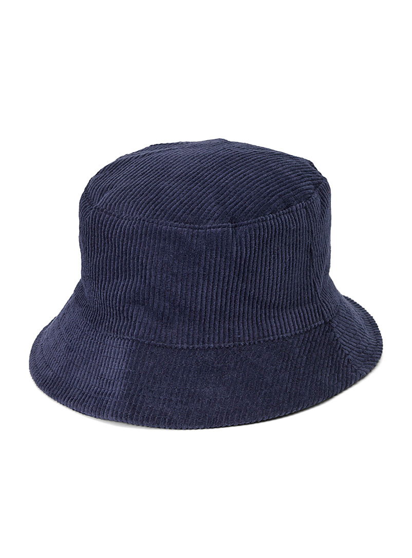 Simons Marine Blue Corduroy bucket hat for women