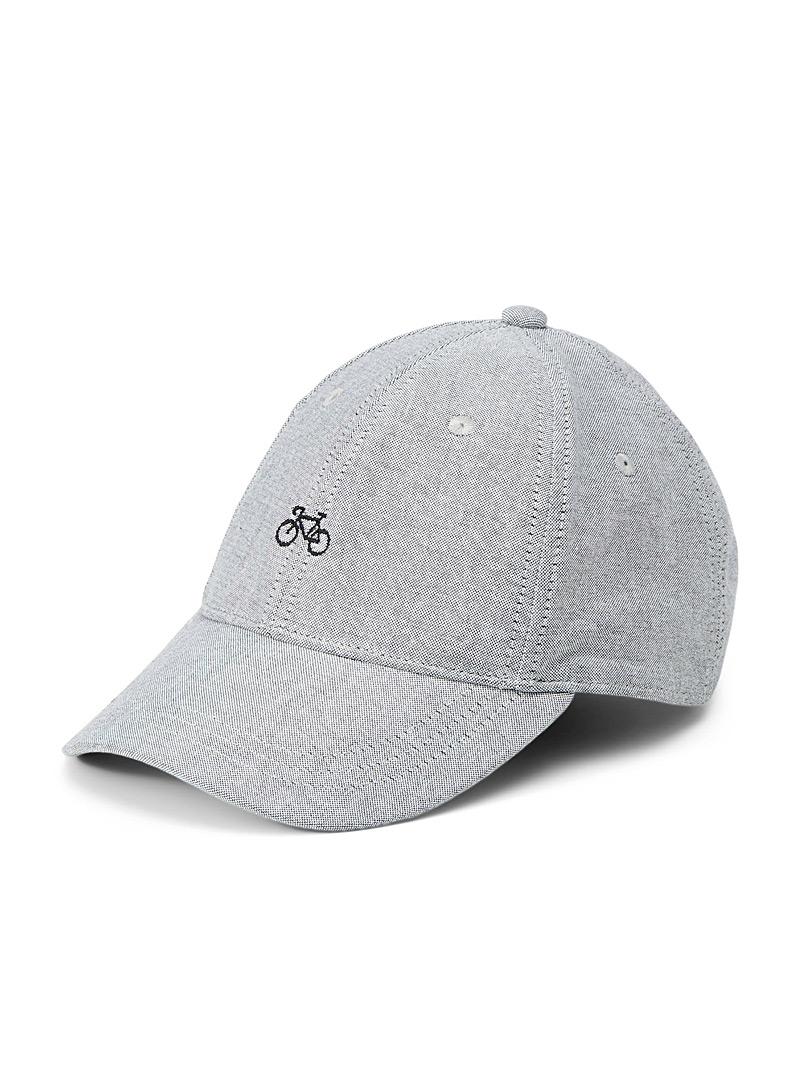 Le 31 Charcoal Little bicycle embroidery cap for men