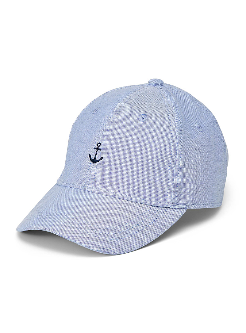 Le 31 Baby Blue Small embroidery cap for men