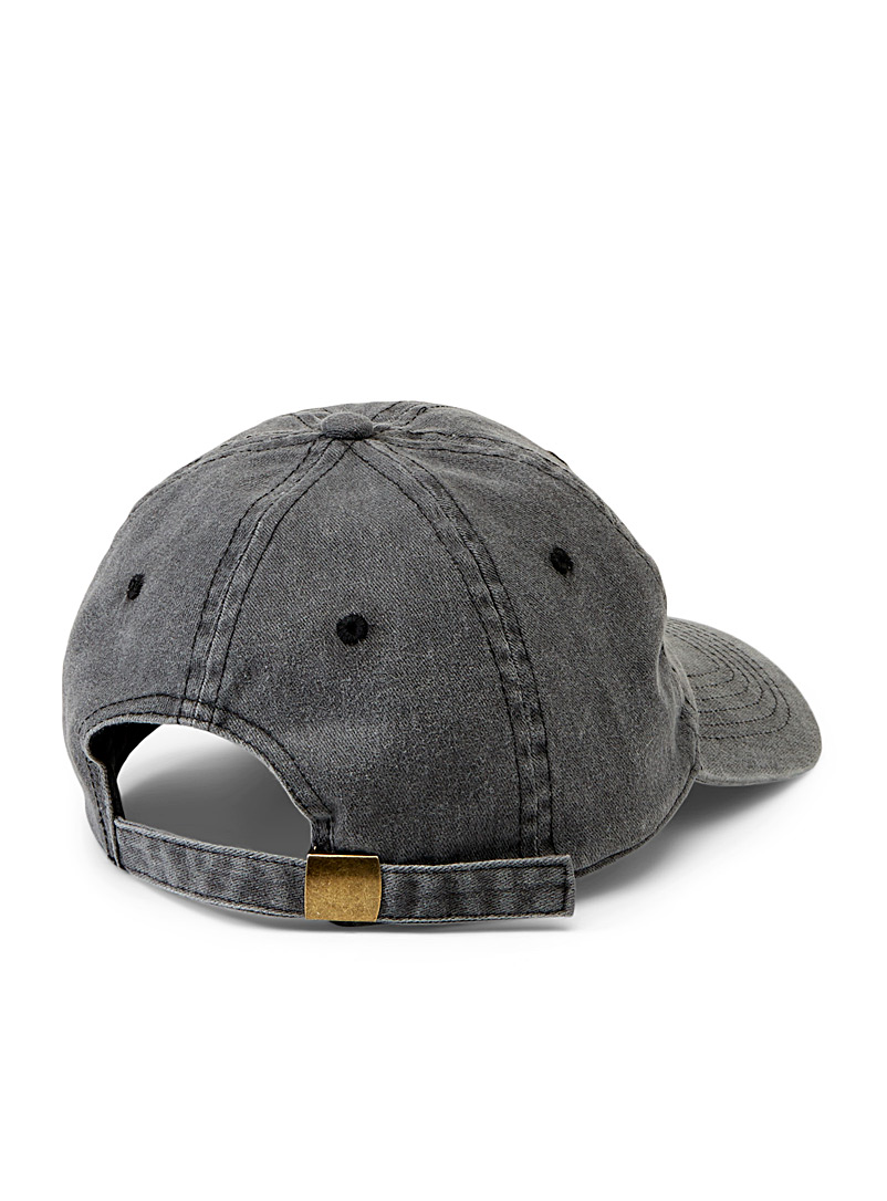 Simons Charcoal Faded denim baseball cap for women