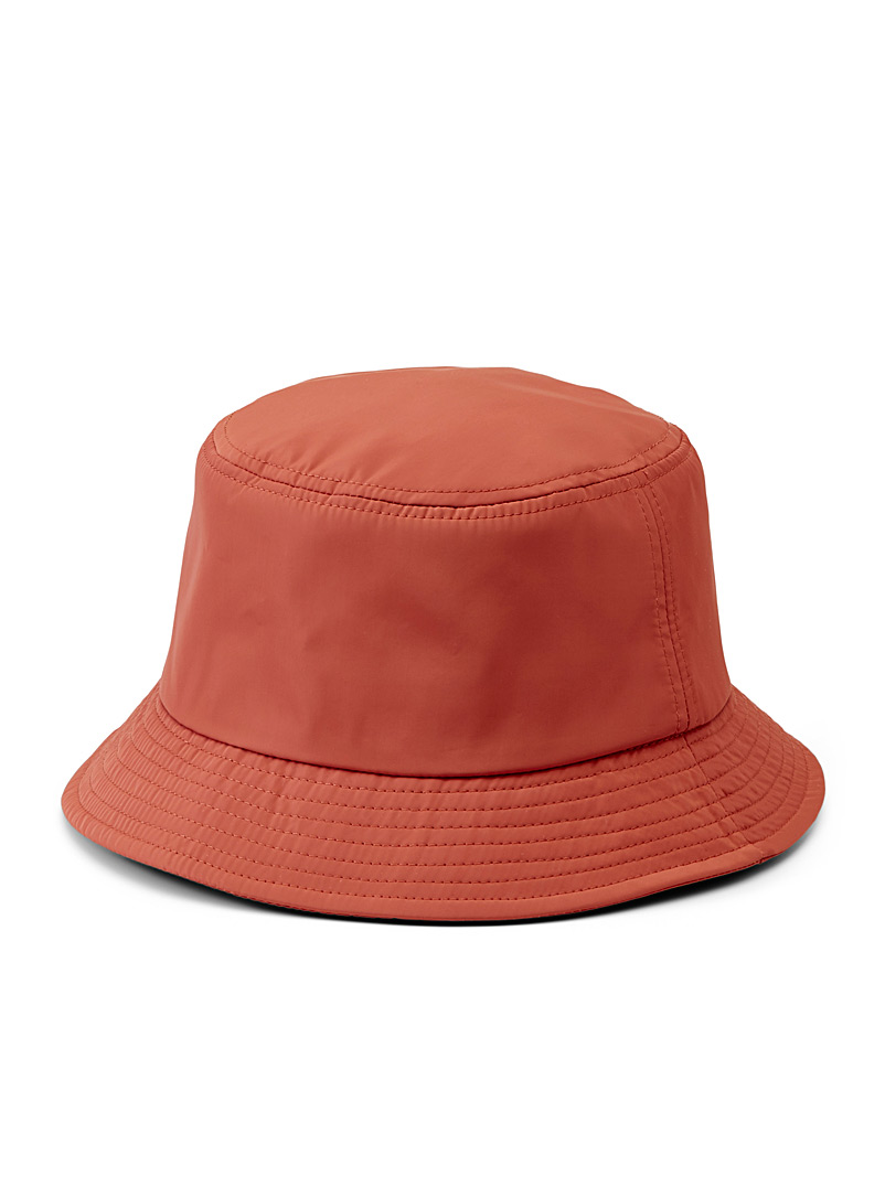 Simons Coral Nylon bucket hat for women