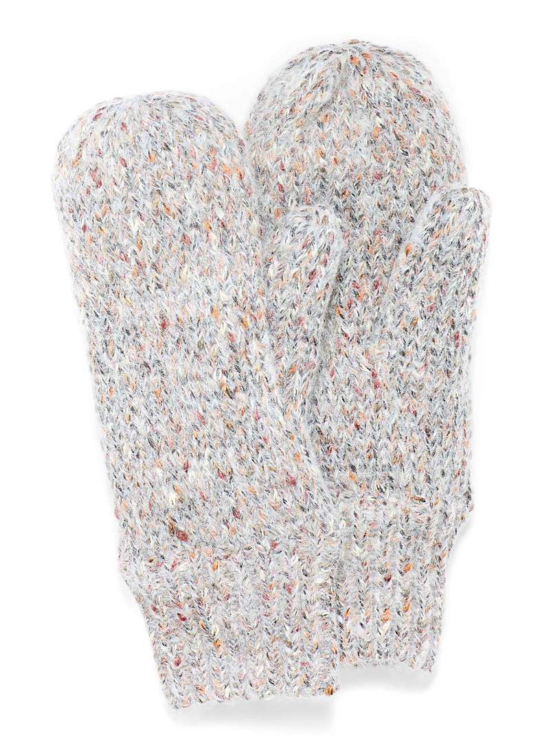 Simons Assorted grey  Multicolour knit mittens for women