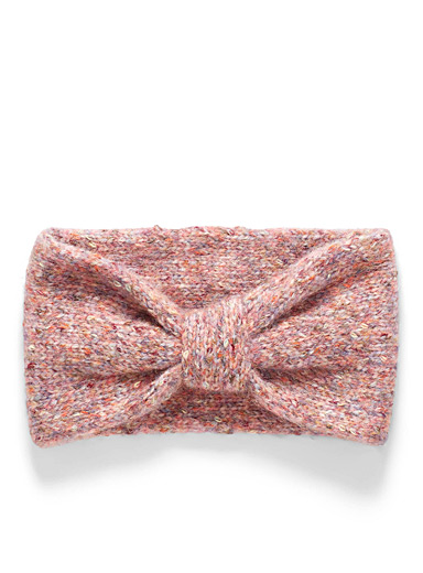 Simons Pink Multi-coloured knotted headband for women