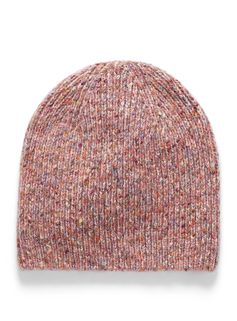 Simons Pink Funky tuque with a touch of wool for women