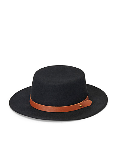 Simons Black Felt Andalusian hat for women
