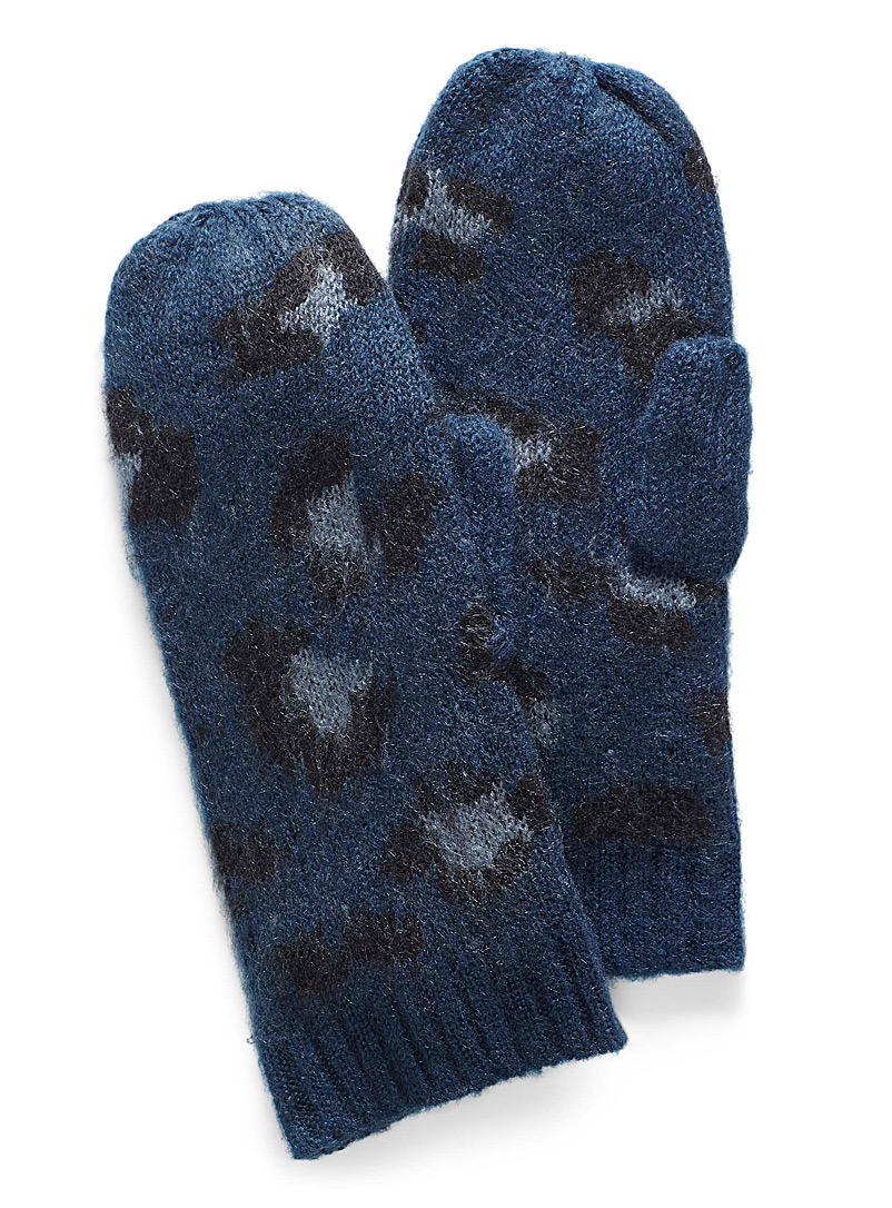 Animal print mittens - Mittens - Patterned Blue