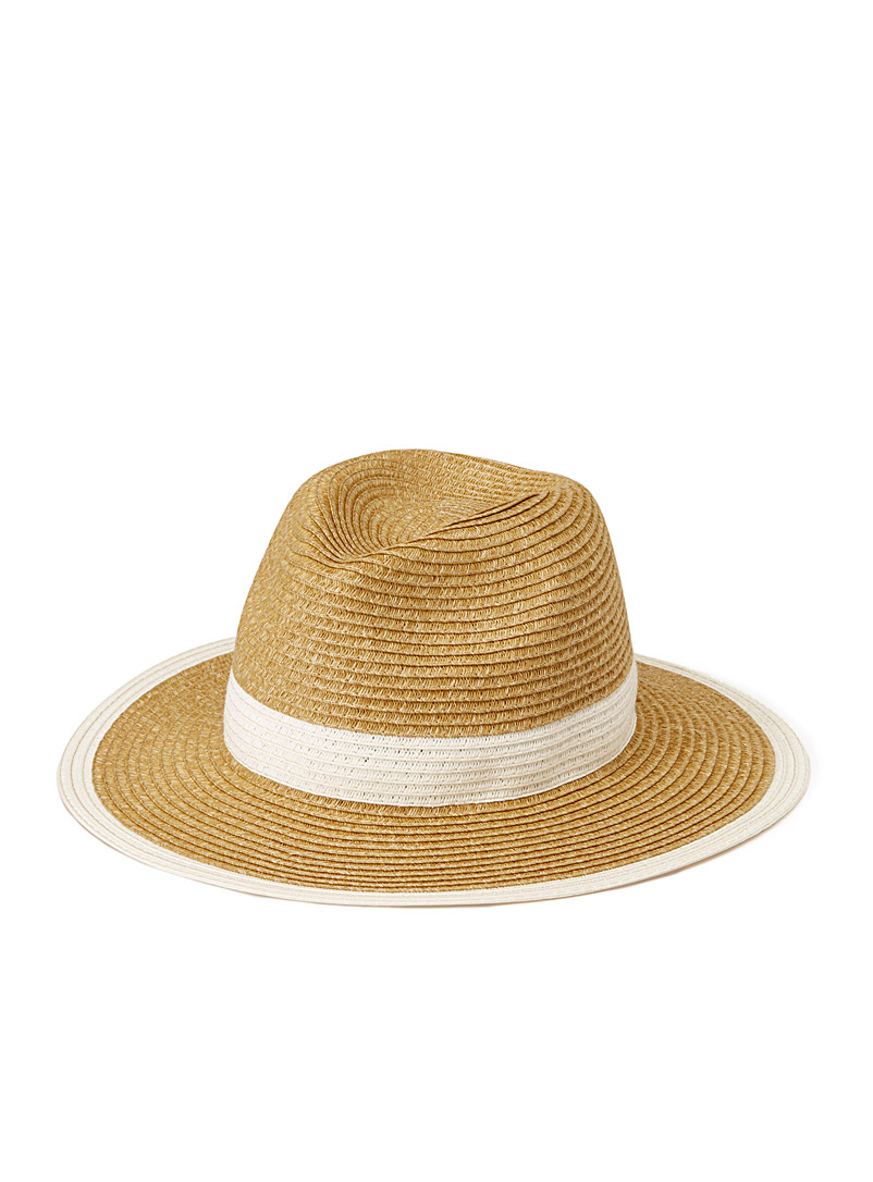 Two-tone Panama hat - Hats - Ivory White