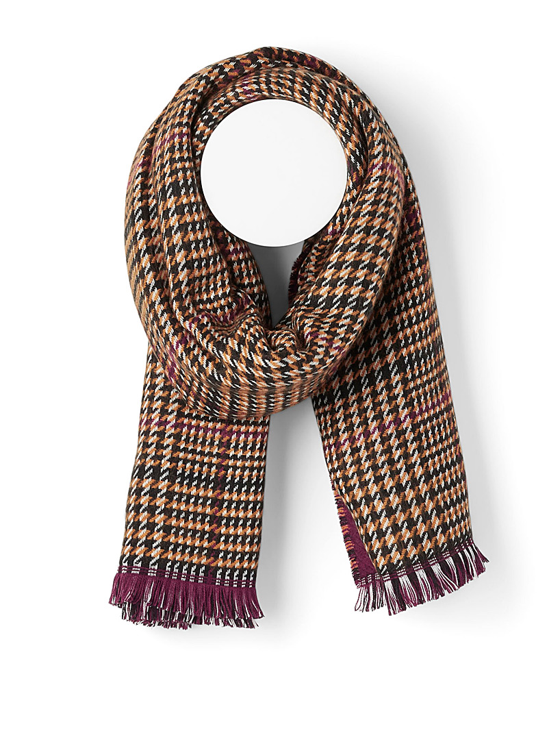 Simons Patterned Brown Fall palette scarf for women