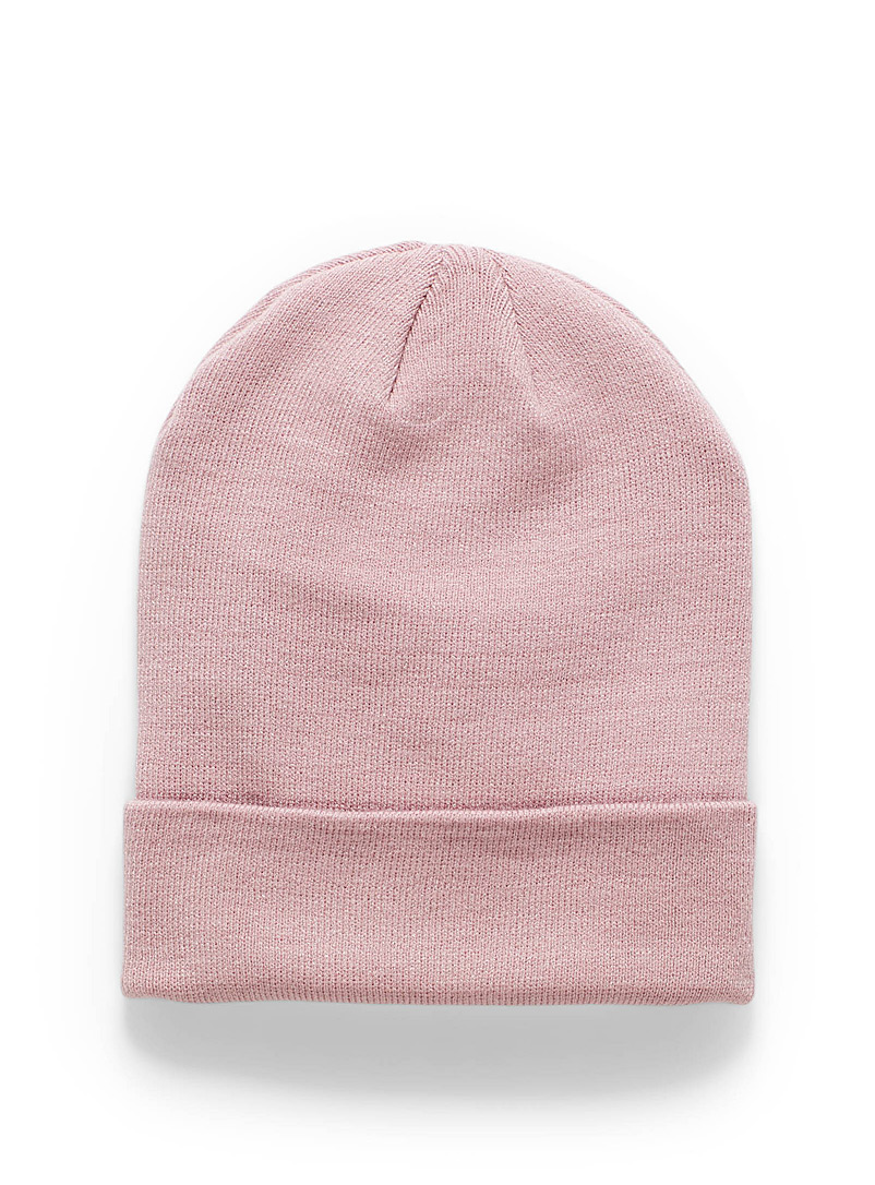 Simons Pink Light knit tuque for women