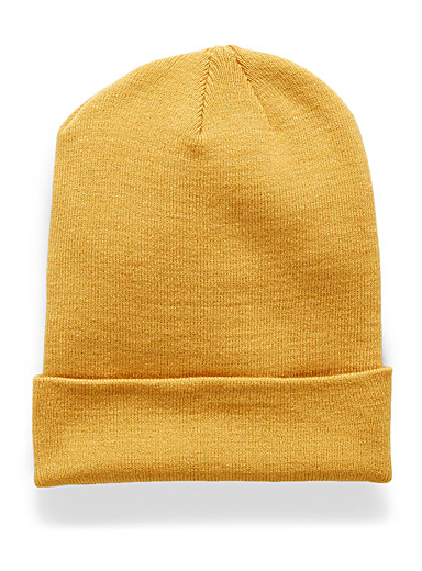 Simons Golden Yellow Light knit tuque for women