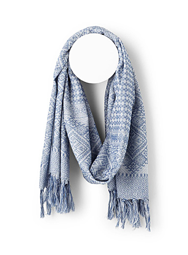 Tone-on-tone jacquard scarf