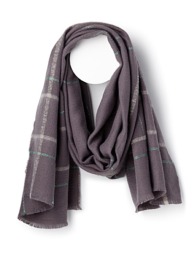 Shimmery check scarf