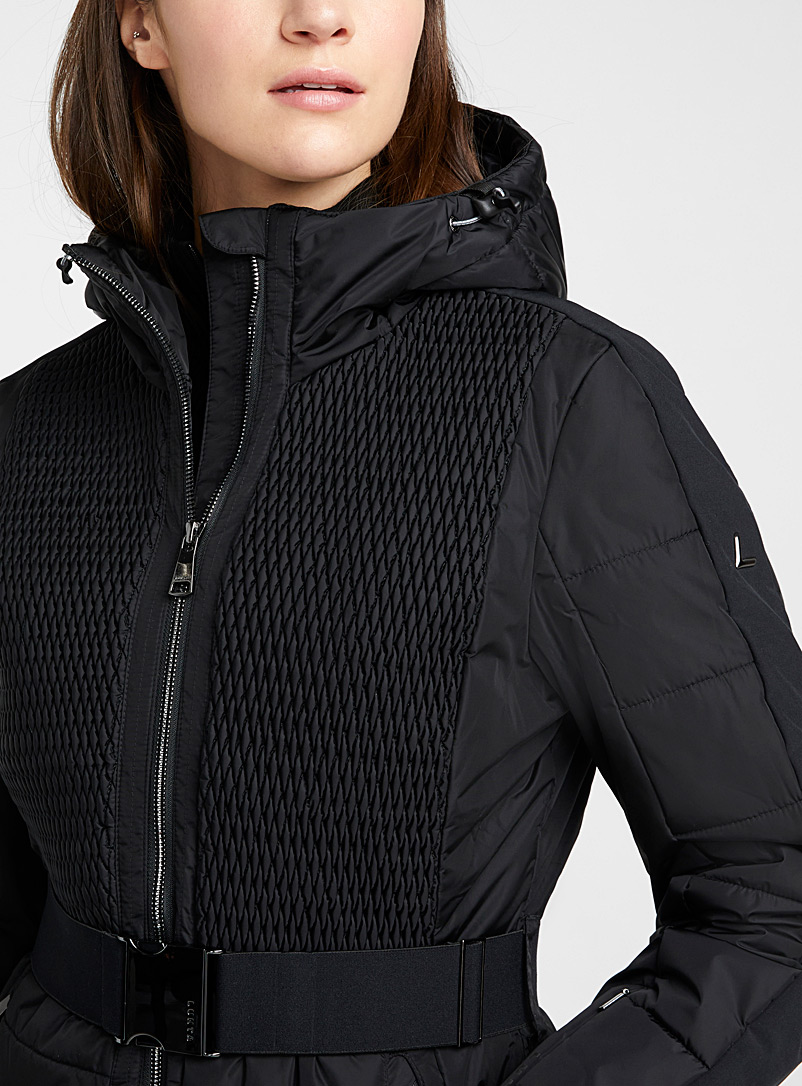 Luhta Black Ersta quilted coat  Fitted style for women