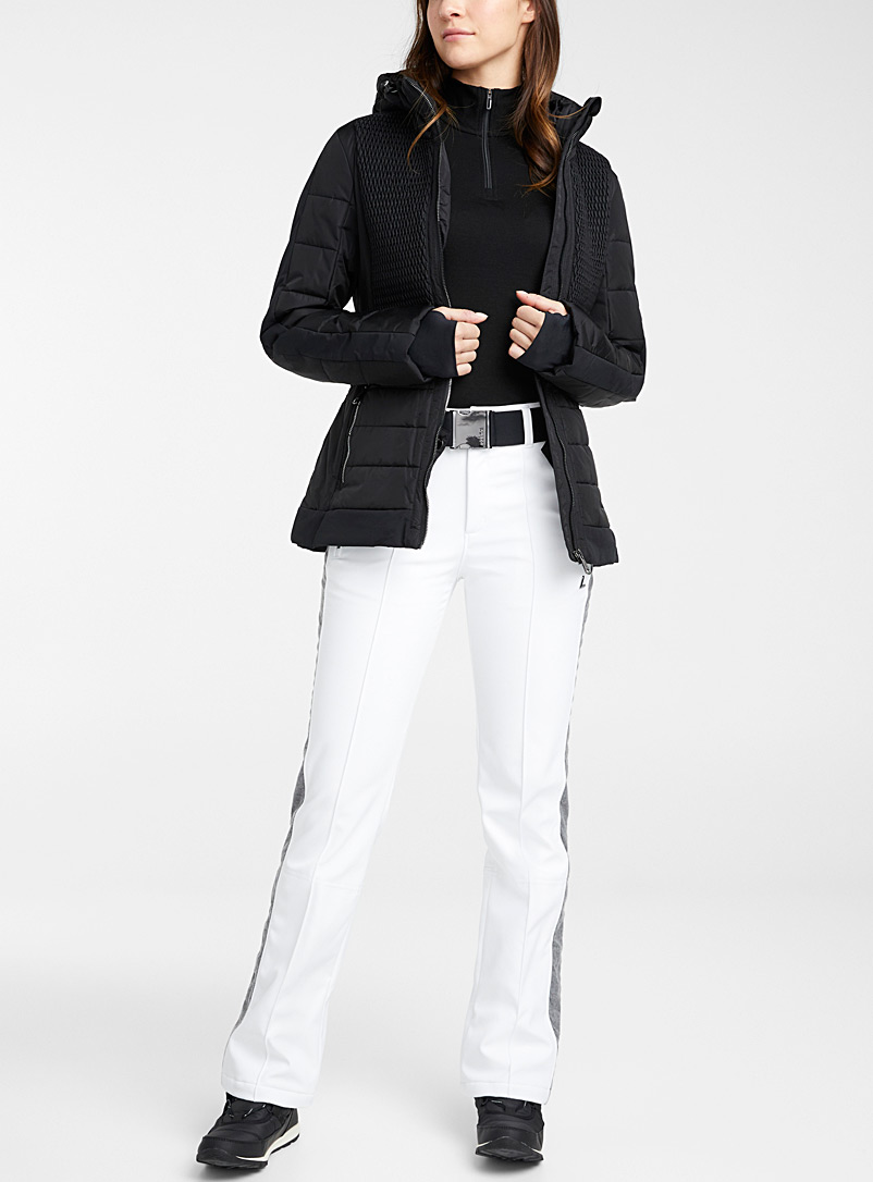 Esse contrast-pleat snow pant