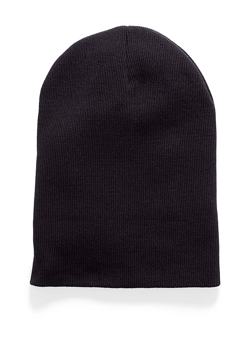 Ribbed knit cuff tuque - Tuques - Black